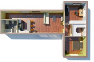 RMG modulový domček varianta Dvojmodul L1P