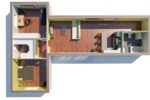 RMG modulový dům varianta Dvojmodul L1L
