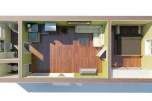 RMG modulový domček medium varianta M2