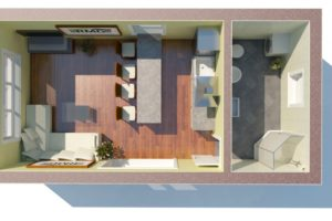 RMG modulový domček mini varianta B