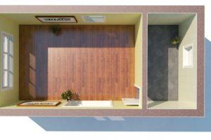 RMG modulový domček mini varianta pouze stavba